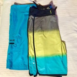 Lot of 2 Salt Life and Hurley Board Shorts size 34